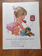 1960 Bell Telephone Ad Baby Betsy Bell  I Always Call Ahead