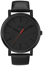 Timex Men's Easy Reader T2N794 Black Leather Quartz Watch