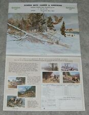 1979 Remington Arms Ammunition  Unused Calendar Salute to Conservation Officer