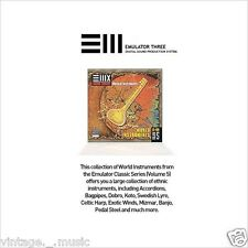 EMU E-MU Sampler Sound CD EIII EIII ESI E4 E-IV Emulator World Instruments Vol.5