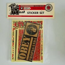 Original Shepard Fairey obey giant gold sticker set rare limited edition