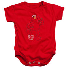 SESAME STREET Elmo LOVES YOU SO MUCH Snapsuit Baby Onesie Romper 6 - 24M