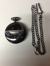 Peugeot 204 Cabrio ref178 car emblem on Polished Black case mens Pocket Watch