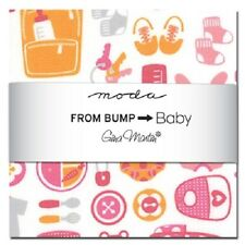 "Moda Pre-cuts From Bump To Baby 10040PP Charm Pack 5"" squares"