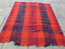 Old Tribal Nomadic Hand Made Persian Oriental Orange Wool MOJJ Kilim 196x180cm