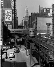 Old Photo. Chicago, Illinois. Electroliner Train at Tower Twelve