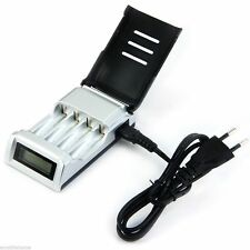 Hot Sale C905W 4 Slots LCD Charger for AA / AAA NiCd NiMh Batteries EU Plug lm05