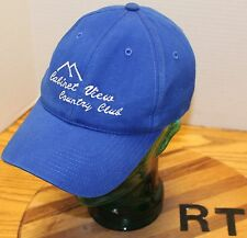 CABINET VIEW COUNTRY CLUB GOLF LIBBY MONTANA HAT BLUE ADJUSTABLE VGC