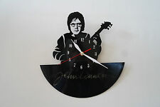 John Lennon with guitar design vinyl record wall clock, black gloss sticker home