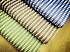 Shabby Chic Green, Brown and Blue Stripes 100% Cotton Fabric. Price per 1/2 mete