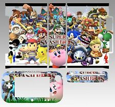 Skin Sticker for Nintendo Wii U Console & Controller 221 Super Smash Bros Brawl