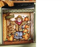 Thanksgiving Fall Scarecrow Pumpkin Large Dishwasher Fridge Magnet Cover Sale