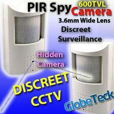 "HIDDEN ALARM PIR COVERT DISCREET CCTV CAMERA 1/3"" SONY EFFIO-E 600TVL OSD MENU!"