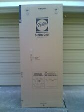 "NIB PELLA 32"" x 80"" high STORM DOOR with Full-View Glass & Screen (White)"