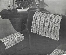 2 Chair Sets - Chair Back and Arms - Crochet Patterns