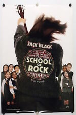"SCHOOL OF ROCK - Jack Black - Original Movie Poster ""A"" - 2003  Rolled DS C8"
