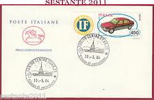 ITALIA FDC CAVALLINO COSTRUZIONI AUTOMOBILISTICHE ITALIANE 1984 TORINO Y545