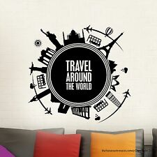 Wall Decal Stickers Travel Around the World map Modern Easy Removable