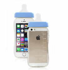 New Baby Blue Nipple Milk Bottle TPU Case Cover For iPhone 6 6S With Rope