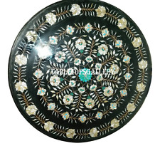 "36"" Marble Dinner Top Inlay Gemstone Floral Inlay Dining Table Home Decor H926B"