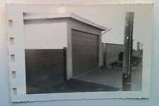 Vintage 40s Photo Picture Of Home In The Suburbs With New Garage Door