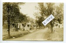 Medford MA Mass RPPC real photo Greenleaf Ave Street view, early