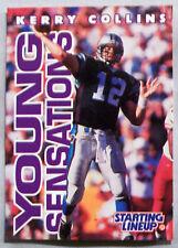 1996 STARTING LINEUP KERRY COLLINS CAROLINA PANTHERS FOOTBALL CARD