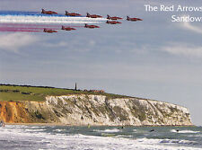POSTCARD ROYAL AIR FORCE THE RED ARROWS, SANDOWN, ISLE OF WIGHT / IOW YAVERLAND