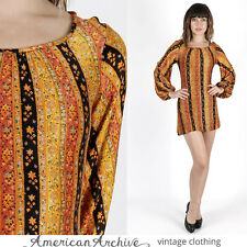 Vintage 60s Mod Dress Psychedelic Floral Paisley Cocktail Party Scooter Mini S
