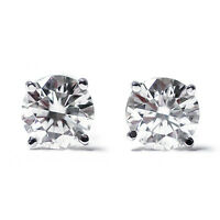 1/4 Ct Round Cut 14K Diamond Stud Earrings