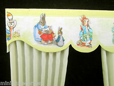 Dolls House Curtain 1/12th scale Nursery Cream Matching wallpaper available 6 in