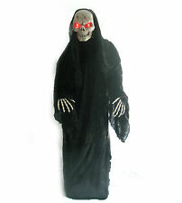 Standing 6' Tall Skeleton Reaper Animated Talking Haunted House Halloween Prop