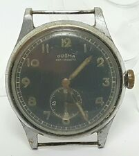 Vintage mens Dogma military mechanical movement watch (missing back) #24UP