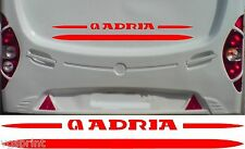 ADRIA CARAVAN/MOTORHOME 2 PIECE KIT DECALS STICKERS CHOICE OF COLOURS & SIZES #3