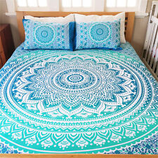 Hippie Indian Bed Spread Bedding Set Mandala Bed Cover With 2 Pillow Cover Boho