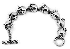 FASHION MEN'S JEWELRY Rocker Biker Gothic SKULL 316L Stainless Steel Bracelets