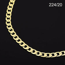 Men's 14K Yellow Gold Plated 20 Inches Cuban Link Chain Necklace 6 mm