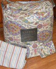 RALPH LAUREN Morrocan Charm Multi Color Cotton QUEEN COMFORTER SET NWT