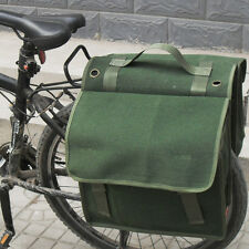 Bike Rear/Frame Rack Bag Bicycle Double Pannier Bag Army Green 26L Traveling NEW