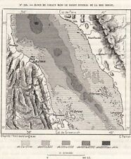 IMAGE 1884 PRINT CARTE MAP MER ROUGE BANCS DE CORAUX RED SEA