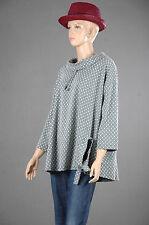 Kaschierwunder Hingucker Lässig Bluse Oversize-Stil Pullover Tunika Top 48 50