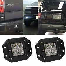 2X 4INCH 18W CREE LED WORK LIGHT BAR SPOT CUBE OFFROAD DRIVING FLUSH MOUNT 4WD