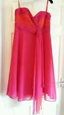 STUNNING DEBUT PINK STRAPLESS PARTY DRESS SIZE 12