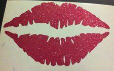Pink Glitter Lips Kiss Vinyl Car Decal Sticker Laptop 2003-2041