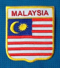 MALAYSIA MALAYSIAN NATIONAL COUNTRY FLAG SOW SEW IRON ON PATCH BADGE SHIELD ASIA