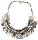 Retro Bohemian Belly Dance Coins Pendant Tassel Statement Chunky Bib Necklace