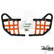 Yamaha Raptor 250 125  Nerf Bars  Alba Racing  Black bar Orange net    192 T1 BO