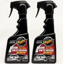 2 Meguiars QUIK INTERIOR DETAILER Spray & Wipe Quick Cleans & Protects
