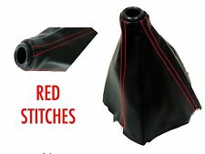 PVC LEATHER RED STITCH SHIFT BOOT FOR SUBARU VEHICLES