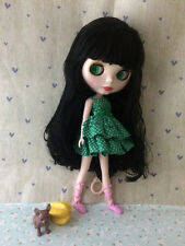"12"" Factory Type Neo Blythe Doll Black Hair- Includes Outfit &Shoes  J004"